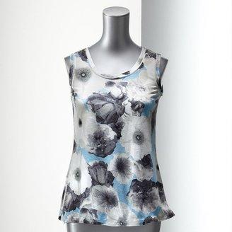 Vera Wang Simply vera floral tank - petite