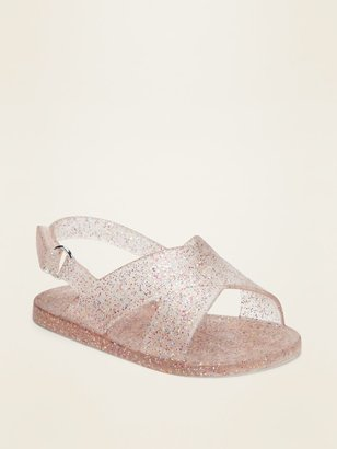 Old Navy Cross-Strap Jelly Sandals for Baby