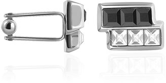 Forzieri Black & White Crystal Cufflinks
