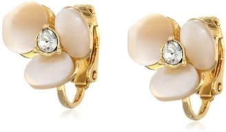 """Kate Spade Disco Pansy"""" Disco Pansy Clip-On Earrings"""