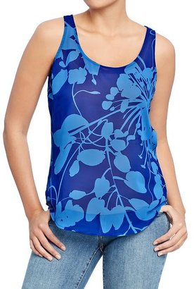 Old Navy Women's Printed Chiffon Tanks