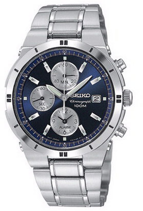 Seiko Watch, Men's Chronograph Stainless Steel Bracelet 38mm SNA695