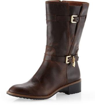 Michael Kors Blake Distressed Buckle Boot