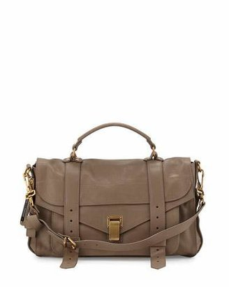 Proenza Schouler PS1 Medium Satchel Bag, Smoke $1,780 thestylecure.com