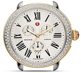 Michele Serein Two-Tone Diamond Watch Head, 40mm x 38mm