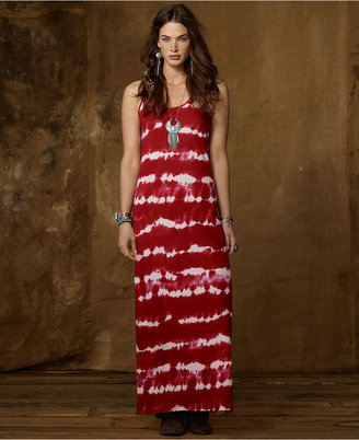 Denim & Supply Ralph Lauren Dress, Spaghetti-Strap Tie-Dye Racerback Maxi