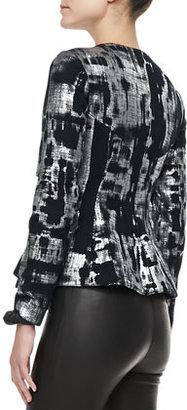 Alexis Fresca Metallic Peplum Jacket