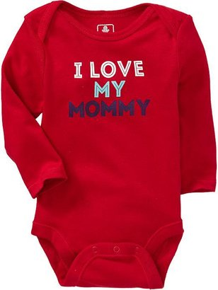 Old Navy Graphic Long-Sleeve Bodysuits for Baby