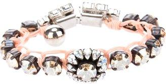 Shourouk gem embellished braided bracelet