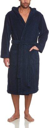 Schiesser Men'S Bathrobe - Blue - Blau (815-Navy) - 50 (Eu) (Brand Size: M)