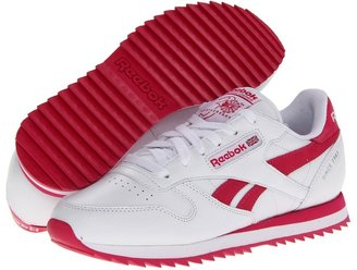 Reebok CL Leather Ripple Suede Stripe (White/Candy Pink) - Footwear