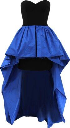 Michael Kors Strapless Peplum Gown