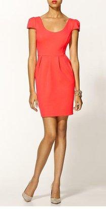 Amanda Uprichard Hillary Dress in Neon Orange
