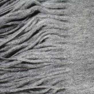 pür cashmere Signature Throw Gray