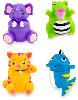 Sassy Silly Squirts™ Bath Toys (Pack of 4)
