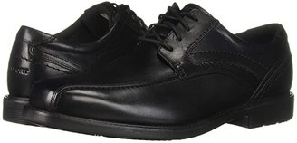 Rockport Style Leader 2 Bike Toe Oxford (Black Waxed Calf) Men's Lace-up Bicycle Toe Shoes