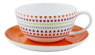 Salt&Pepper My Cup Dot Dot cup & saucer set of 4