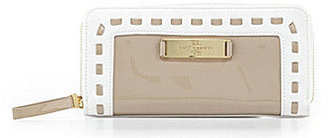 Kate Landry Evelyn Whipstitch Zip-Around Clutch Wallet