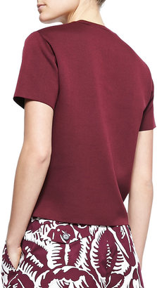 Marc Jacobs Embroidered-Square Crew Sweater