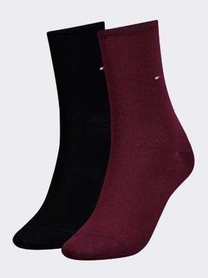 Tommy Hilfiger 2-Pack Women's Contrast Cuff Socks