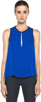 A.L.C. Kat Silk Top in Electric Blue