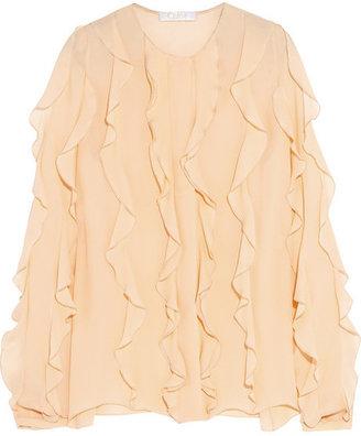 Chloé Ruffled silk-georgette blouse