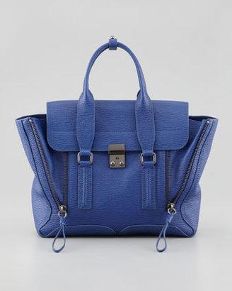 3.1 Phillip Lim Pashli Medium Satchel Bag, Cobalt