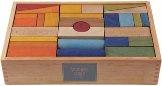 story. Wooden Rainbow Wooden XL Blocks, 63 Pieces