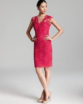 David Meister Dress - Cap Sleeve Lace