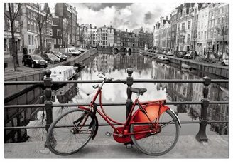 Educa Black And White With Color Amsterdam Puzzle (1000 pcs)