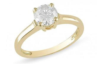 Ice 1 CT Diamond 14K Yellow Gold Solitaire Engagement Ring, IGL Certified
