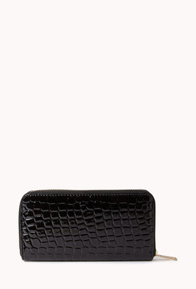 Forever 21 Chic Faux Croc Wallet