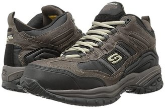 Skechers Soft Stride Canopy (Brown/Black) Men's Work Boots