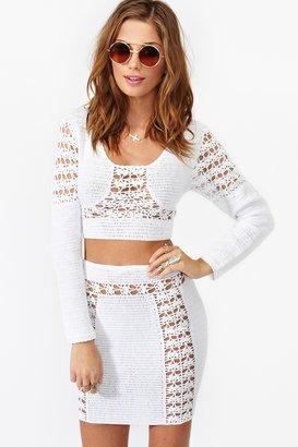 Nasty Gal Dawn Crochet Skirt