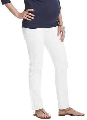 LOFT Maternity Modern Straight Leg Jeans in White