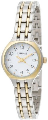 Timex Carriage by Women's C3C356 Two-Tone Round Case White Dial Two-Tone Sports Bracelet Watch