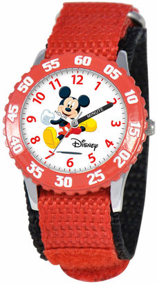 Disney (ディズニー) - Disney Watch, Kid Mickey Mouse Time Teacher Red Strap 31mm W000003