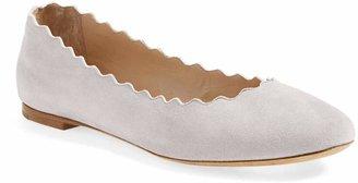 Chloé 'Lauren' Scalloped Ballet Flat