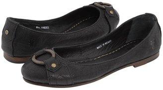 Frye Carson Harness Ballet (Black Leather) - Footwear