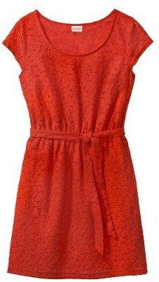 Merona Petites Short-Sleeve Lace-Overlay Dress - Assorted Colors