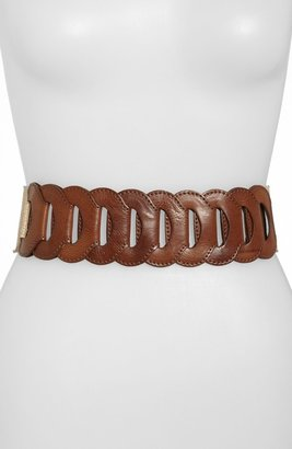 Another Line Linked Faux Leather Belt
