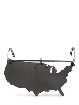 Linda Farrow Jeremy Scott American Map Sunglasses