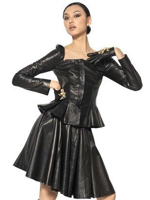 Alexander McQueen Pleated Nappa Leather Jacket