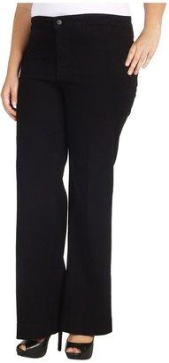 NYDJ Plus Size - Plus Size Greta Trouser in Black (Black) - Apparel