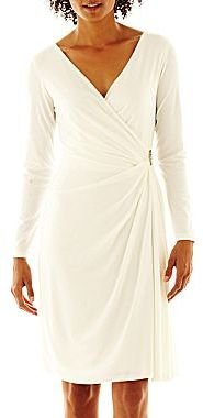 JCPenney American Living Draped Side-Pin Dress