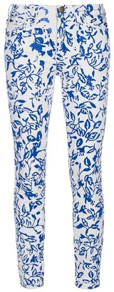 Diane von Furstenberg And Current Elliott printed skinny jean