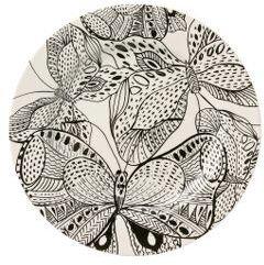 Anthropologie Ink Forest Dinner plate
