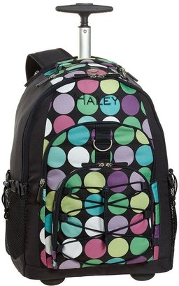 PBteen 4504 Gear-Up Navy Dot-to-Dot Rolling Backpack