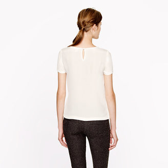 J.Crew Collection leather-flowers tee