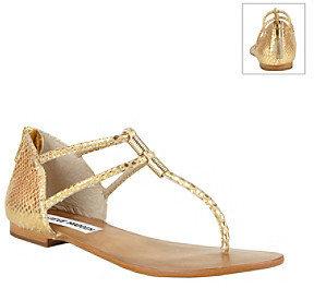 """Steve Madden Rantt"""" Casual Thong Sandal - Gold"""